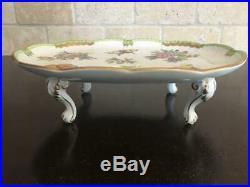 415 FOOTED Tray #2 Tea Dresser Dessert Serving Platter Herend Queen Victoria VBO
