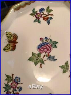 70% OFF Retail $435 QUEEN VICTORIA Dessert Tea Tray Herend 24K Gold Porcelain