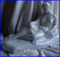 ANTIQUE Herend NUDE LADY Signed Dabóczi Michelangelo de Transsylvaniae Porcelain