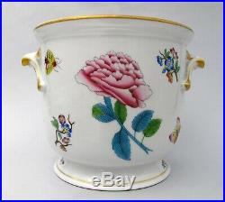 ANTIQUE Herend Victoria Hand Painted Porcelain Cachepot Planter Jardiniere