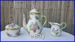 Antique Herend Hungary COFFEE/TEA SET Queen Victoria Excellent Condition Rare