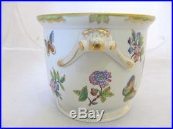 Collectible old huge Herend porcelain cachepot, Queen Victoria, handpainted 7213
