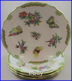 FOUR Herend Queen Victoria Dessert Plates