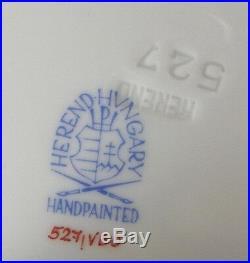 Fun Herend Porcelain Clock Plate Porzellan Uhr Teller Queen Victoria Hungary