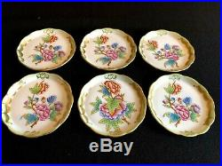 HEREND PORCELAIN HANDPAINTED QUEEN VICTORIA COASTERS 7562/VBO (6pcs.)