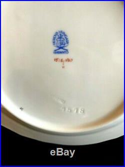 HEREND PORCELAIN HANDPAINTED QUEEN VICTORIA DESSERT PLATES 1518/VBO (6pcs.)