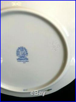 HEREND PORCELAIN HANDPAINTED QUEEN VICTORIA DESSERT PLATES 517/VBO (6pcs.)NEW