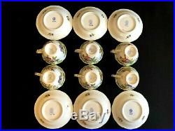 HEREND PORCELAIN HANDPAINTED QUEEN VICTORIA MOCHA CUP AND SAUCER (6. Pcs)735/VBO
