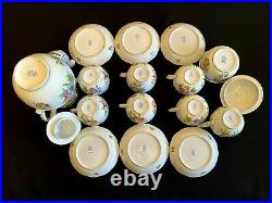 HEREND PORCELAIN HANDPAINTED QUEEN VICTORIA TEA SET FOR 6 PERSONS (17pcs.)