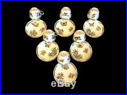 HEREND PORCELAIN QUEEN VICTORIA MOCHA CUP AND SAUCER (6+6 pcs.) 711/VBO ###