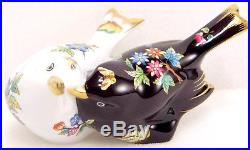 HEREND QUEEN VICTORIA BIRDS LOVE FIGURINES, BRAND NEW BOXED, 4,2 inches long