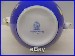HEREND QUEEN VICTORIA BLUE TEAPOT, 30 fl OZ, BRAND NEW BOXED, 606/VE-FB, MEGA RARE