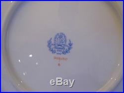 HEREND QUEEN VICTORIA DINNER LUNCHEON PLATES, 6 PCS, MINT CONDTION, 9 inches dia