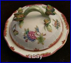 HEREND QUEEN VICTORIA Pink VBO COVERED MUFFIN DISH