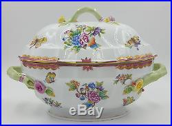 HEREND QUEEN VICTORIA TUREEN BRAND NEW2QT WithPink Border VBO-Y401014 $1645 List