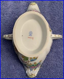 HEREND QUEEN VICTORIA VBO Large Gravy Boat with Under Plate