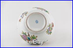 HEREND Queen Victoria Big Bowl Porcelain Hungary