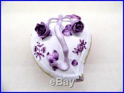 HEREND Queen Victoria Fortuna lavender medium hearth box, 06003/VBOL, BRAND NEW