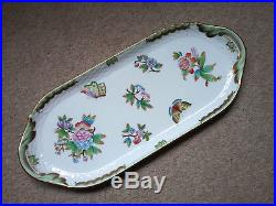 HEREND Queen Victoria Sandwich Tray VBO 150th Anniversary Limited Edition Green
