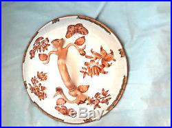 HEREND's FORTUNA QUEEN VICTORIA RUST ROUND COVERED VEGETABLE BOWL