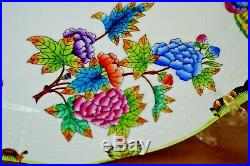 Herend 2 pcs dinner plates Queen Victoria VBO pattern handpainted #4