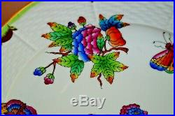 Herend 2 pcs dinner plates Queen Victoria VBO pattern handpainted #5