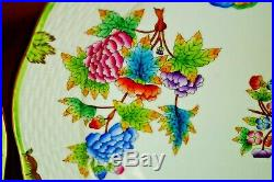 Herend 6 pcs dinner plates Queen Victoria VBO pattern handpainted