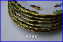 Herend 6 pcs mini dessert plates Queen Victoria VBO pattern handpainted