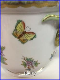Herend Cachepot 7283/vbo Queen Victoria Pattern