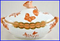 Herend Fortuna/queen Victoria Rust Vboh Small Tureen/dish & Cover 6010 1st