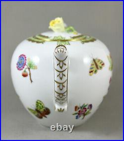 Herend Hand Painted Porcelain Queen Victoria Yellow Rose Vbo Teapot 606 New 1st