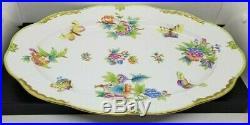 Herend Hand-Painted Victoria Porcelain Large Oval Platter 102/VBO