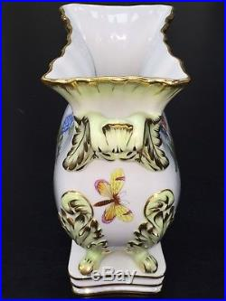 Herend Hungary 6612/VBO Queen Victoria Bouquet Vase 10 1/4 Tall