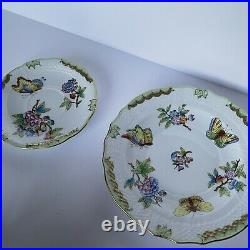 Herend Hungary Tea Cup Saucer Trio- Flowers, Butterflies Queen Victoria