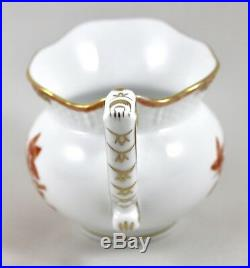 Herend Porcelain Fortuna/queen Victoria Rust Vboh Tea Set For 6 1602 1st Mint