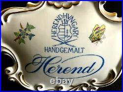 Herend Porcelain Handpainted Queen Victoria Dealer Sign