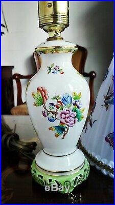 Herend Porcelain Handpainted Queen Victoria Lamp 6737/vbo (new Lampshade)