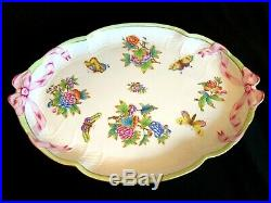 Herend Porcelain Handpainted Queen Victoria Large Serving Tray 1400/vbo
