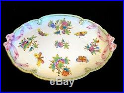 Herend Porcelain Handpainted Queen Victoria Large Serving Tray 400/vbo