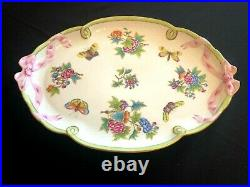 Herend Porcelain Handpainted Queen Victoria Large Serving Tray 400/vbo New