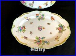 Herend Porcelain Handpainted Queen Victoria Large Soup Tureen + Turkey Platter
