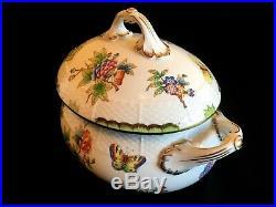 Herend Porcelain Handpainted Queen Victoria Soup Tureen