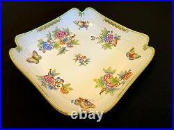 Herend Porcelain Handpainted Queen Victoria Square Salad Bowl 181/vbo New