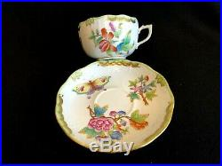 Herend Porcelain Handpainted Queen Victoria Tea Cup And Saucer (724/vbo)