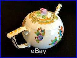 Herend Porcelain Handpainted Queen Victoria Tea Pot 602/vbo