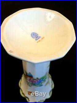 Herend Porcelain Handpainted Queen Victoria Vase 7075/vbo