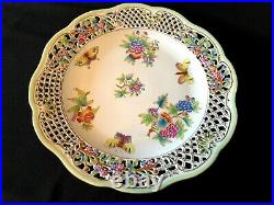 Herend Porcelain Handpainted Queen Victoria XL Reticulated Wall Plate 8402/vbo