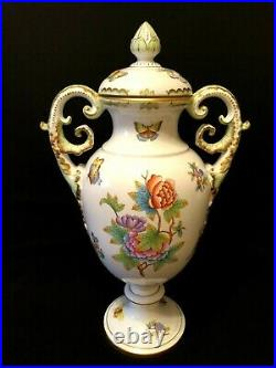 Herend Porcelain Handpainted Queen Victoria XXL Large Vase With LID 6490/vbo