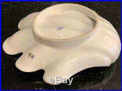 Herend Porcelain Vintage Scalloped Queen Victoria Floral Shell Dish