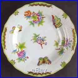 Herend QUEEN VICTORIA (GREEN BORDER) 1520 Dessert Pie Plate 6474585